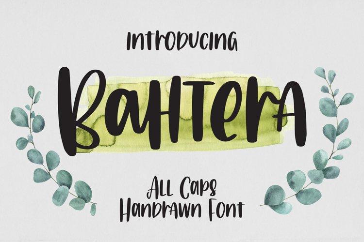 Bahtera - All Caps Handrawn Font example image 1