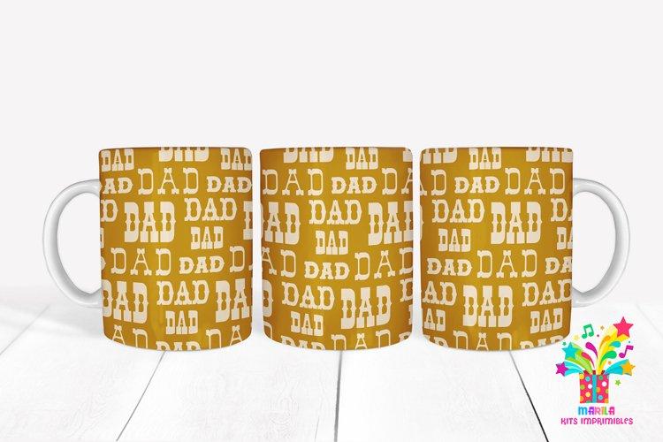 Dad Sublimation Mug Design / Dad Mug Wrap #5 example image 1