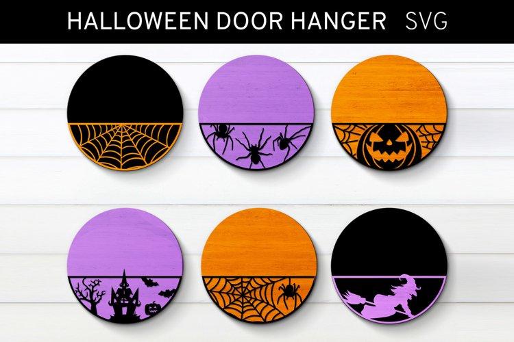 Halloween Door Hanger Bundle Svg, Patterned Door Hanger Svg