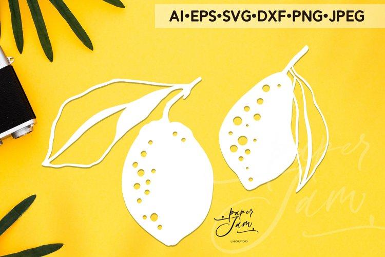 lemons svg summer svg fruits svg papercut template svg png example image 1