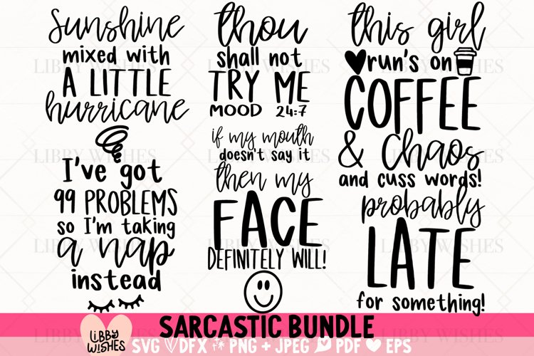 Sarcastic SVG Bundle | Funny SVG Cut Files | Shirt Bundle