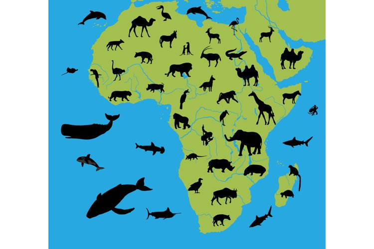 Animals on the map of Africa example image 1