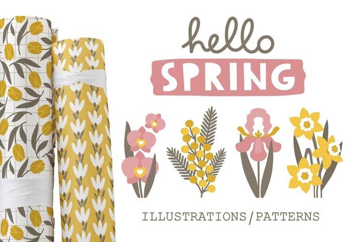 SPRING illustrations & patterns example image 1