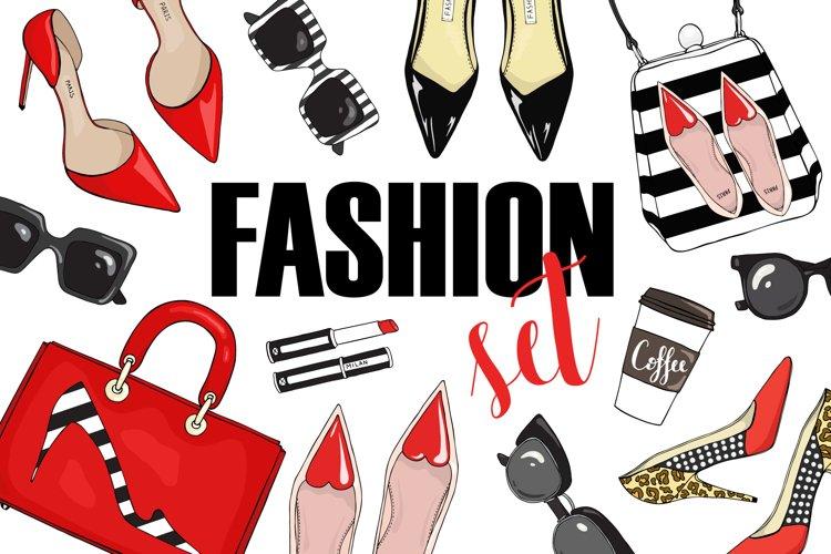 Vector fashion set. example image 1