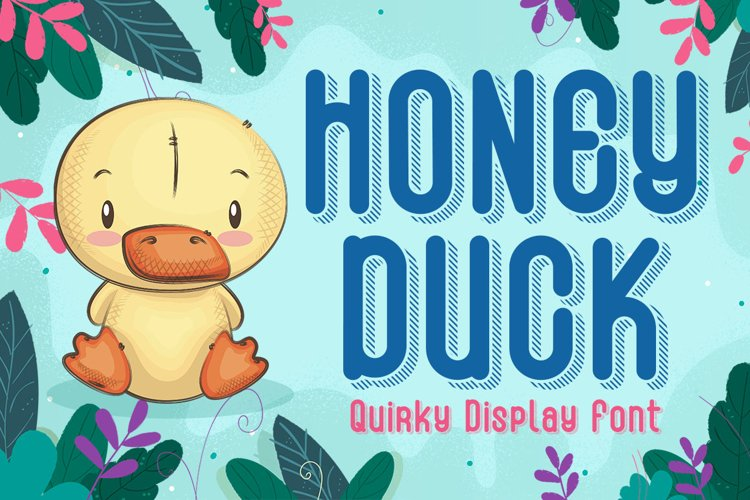 Quirky Shadow Font - Honey Duck example image 1