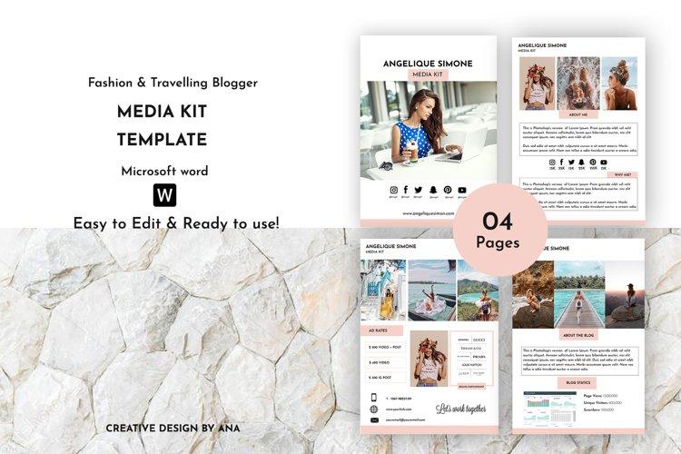 Media Kit Template | Blogger Media Kit | MS Word Template
