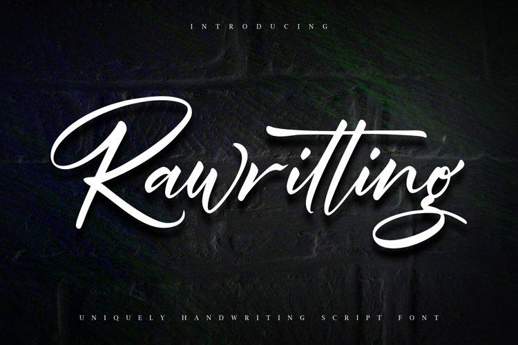 Rawriting | Uniquely Handwriting Script Font example image 1