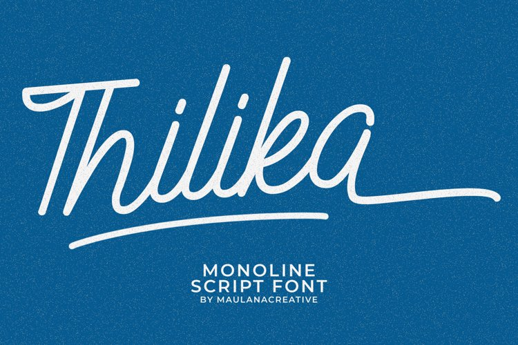 Thilika Monoline Script Font example image 1
