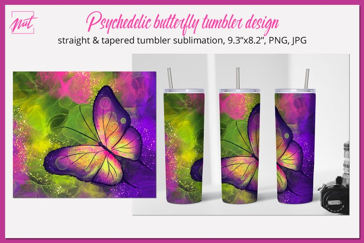 Tumbler sublimation Butterfly sublimation tumbler