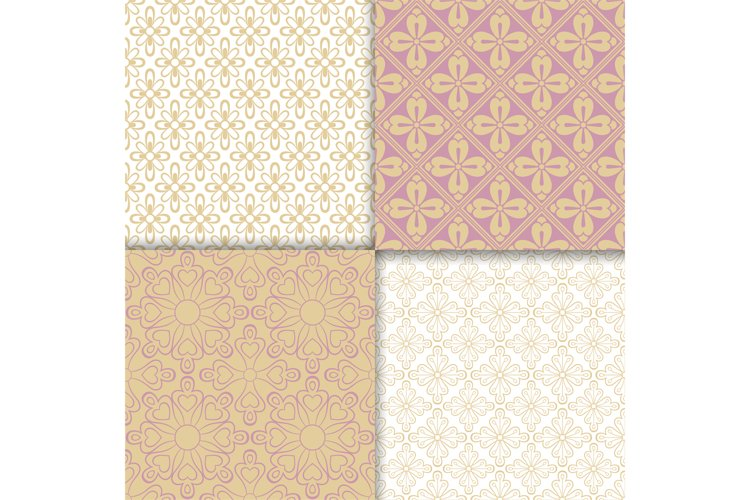 Romantic style light colors pattern set example image 1