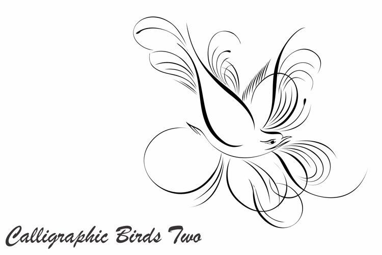 Calligraphic Birds Two example image 1