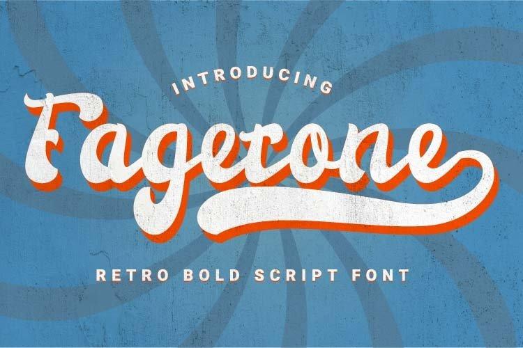 Fagetone-Retro Bold Script Font example image 1