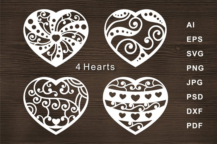 Heart SVG Cut file for Crafters example image 1