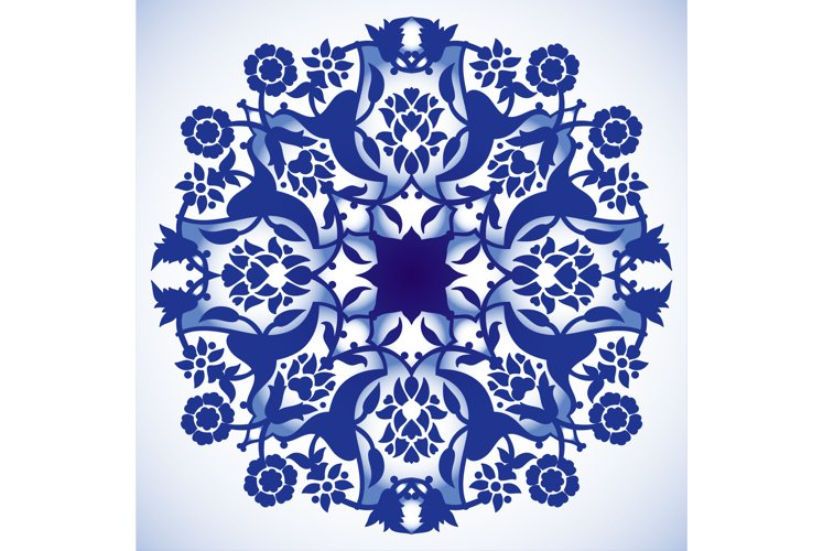 Laser cut floral arabesque round ornament pattern vector bg example image 1