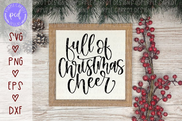 Full of Christmas Cheer Hand-Lettered Cut File example image 1