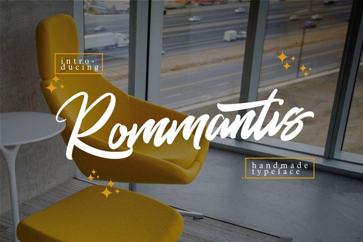 Rommantis Script example image 1