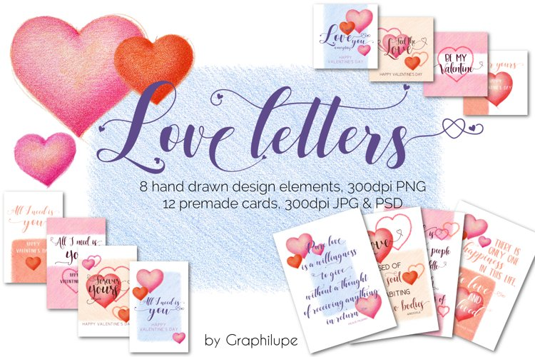 Love Letters - Hand-drawn Illustration Kit