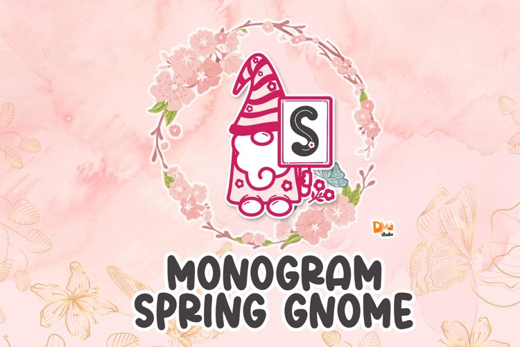 Spring Gnome Monogram Font example image 1