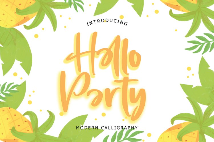 Hello Party Modern Calligraphy example image 1