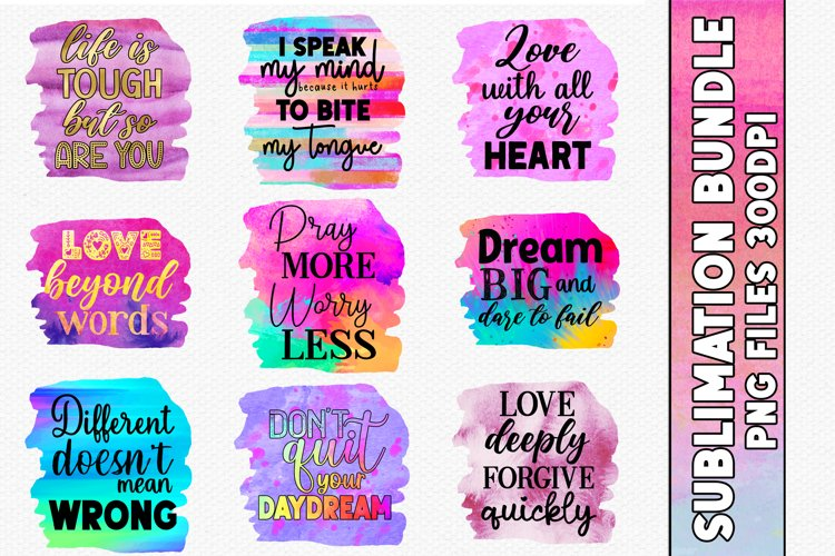 PNG Sublimation Bundle  Inspirational Sublimation PNGS example image 1