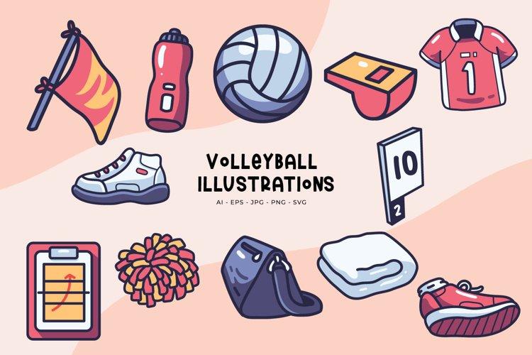 Volleyball illustrations