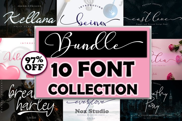 Bundle 10 Font Collection example image 1