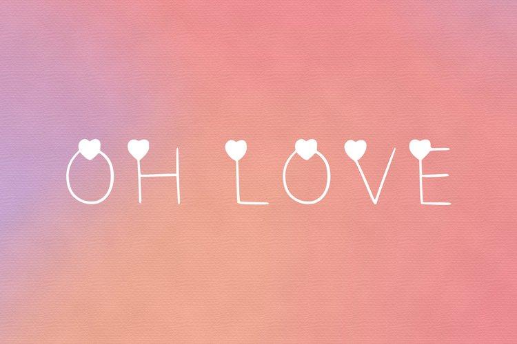 Oh love font ttf, otf example image 1