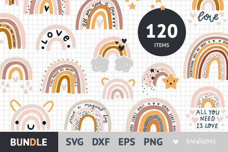 Rainbow SVG bundle, 120 Boho rainbow svg cut Files