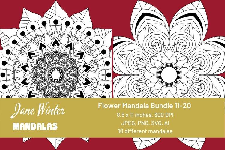 Flower Mandala Bundle 11-20
