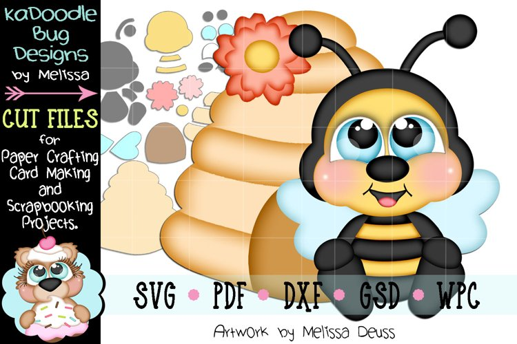 Spring Bumble Bee Hive Cut File - SVG PDF DXF GSD WPC example image 1