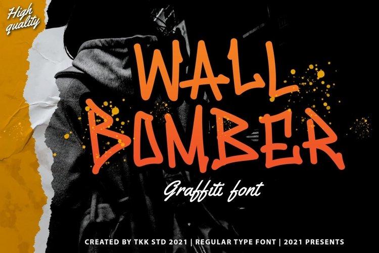 Wall Bomber - Urban Graffiti Font example image 1