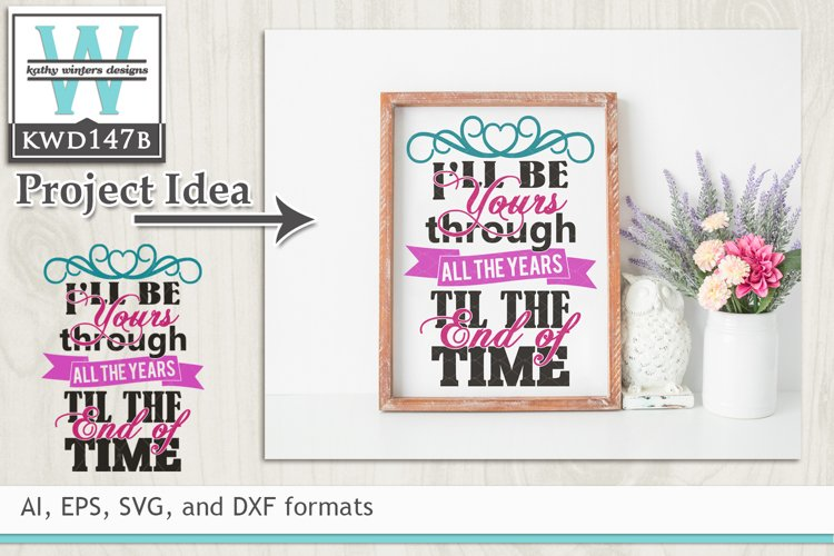 Wedding SVG - I'll Be Yours example image 1