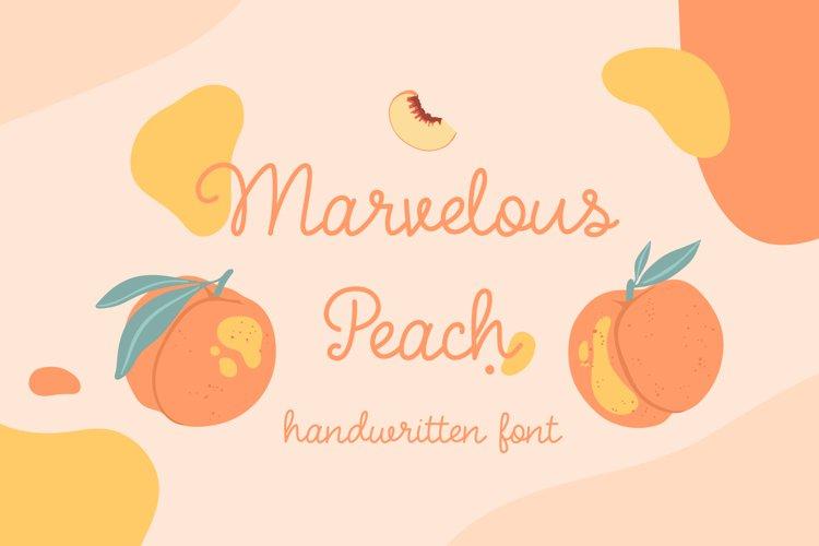 Marvelous Peach | handwritten font example image 1
