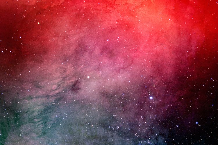 Space Watercolor Backgrounds - Free Design of The Week Design6