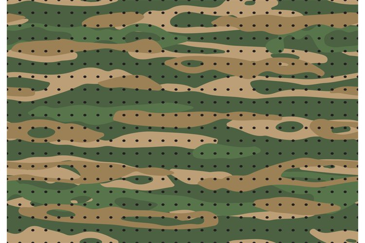 Military camouflage. Army camo textile texture, hunting gree example image 1
