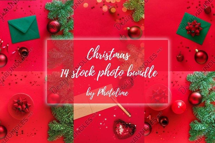 Christmas stock photo bundle. Classy christmas flatlay image