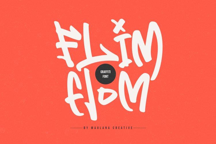 Flim Flom - Graffiti Font example image 1