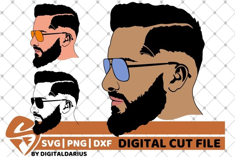 3x Man with Glasses svg, Face man svg, Hipster, Beard Man example image 1