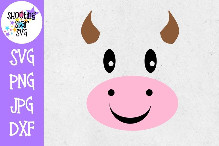 Cow Face SVG - Farming SVG - Childrens SVG