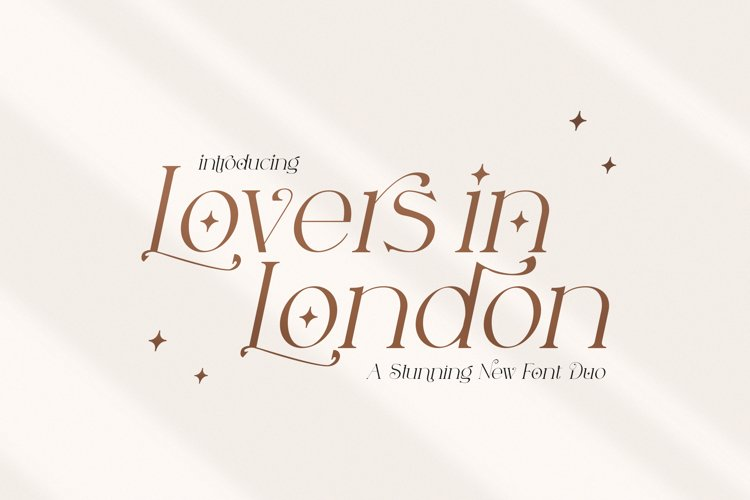 Lovers in London Serif Font Duo example image 1