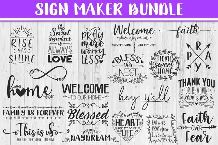 SALE! Sign maker bundle - includes 20 designs,Quote sign svg example image 1