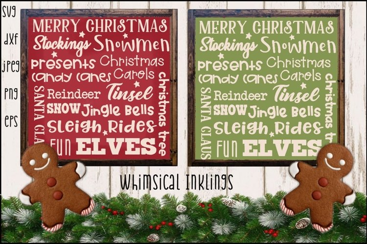 Christmas Collage SVG example image 1