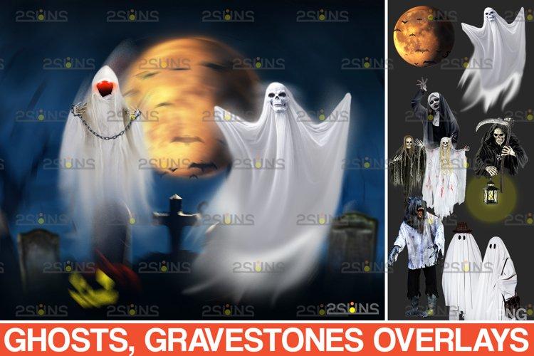 39 Halloween overlay & Ghost Clipart Photoshop overlay example image 1