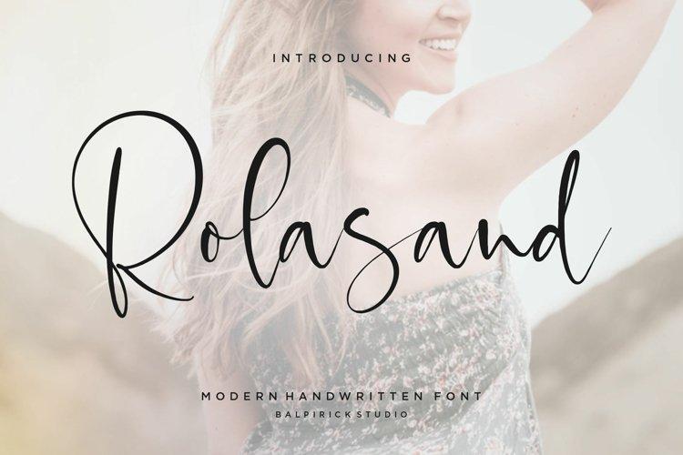 Rolasand Modern Handwritten Font example image 1