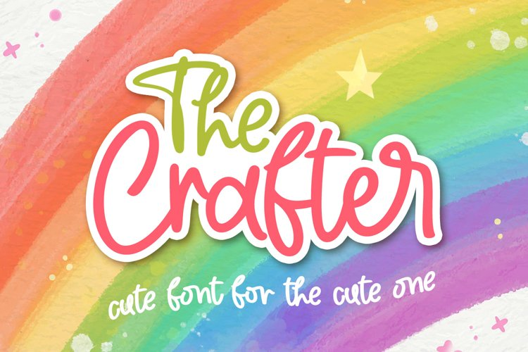 The Crafter - Crafting Font example image 1