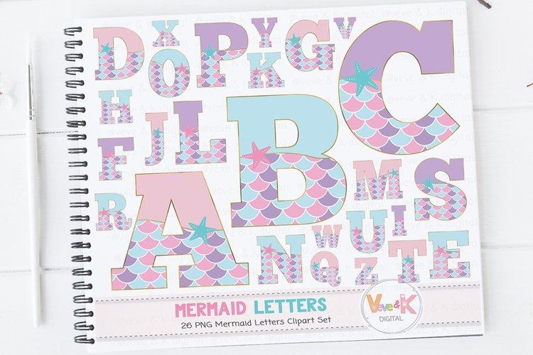 Mermaid Letters, Mermaid Letters Clipart, Mermaid Alphabet, Alphabet Clipart, Mermaid Clipart, Mermaid Graphics, Mermaid Alphabet Clipart