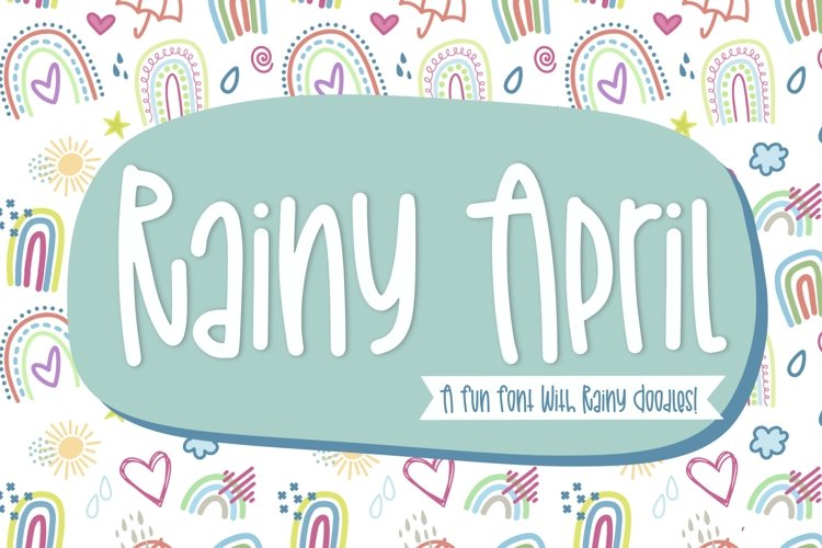 Rainy April a Hand Lettered Font with Doodles
