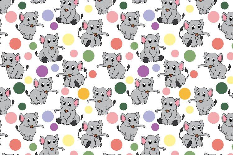 cute animal seamless pattern example image 1