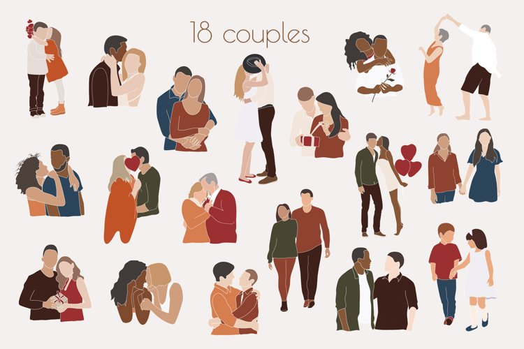 Couples SVG, Interracial couple, love is love example image 1
