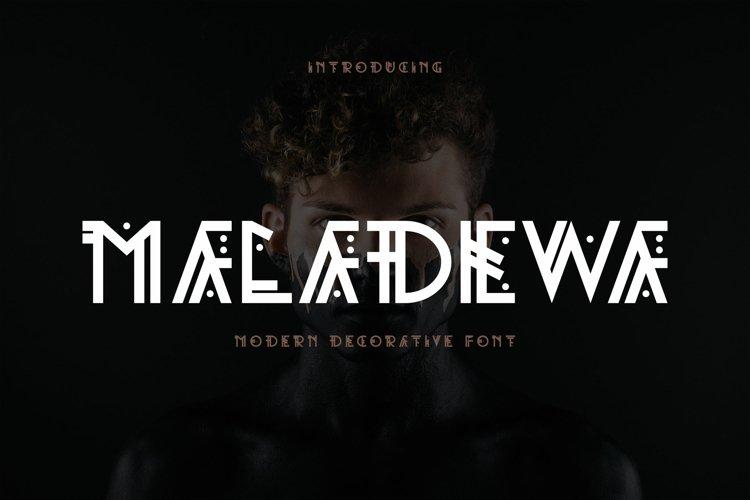 Maladewa - Decorative Font DR example image 1